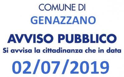 DISINFESTAZIONE del territorio comunale MARTEDI'  02 Luglio 2019 dalle ore 23.00