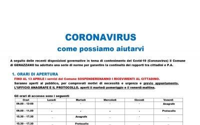 Coronavirus - Come possiamo aiutarvi