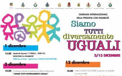 Il Comune di Genazzano aderisce alla Giornata Internazionale delle Persone con Disabilità.