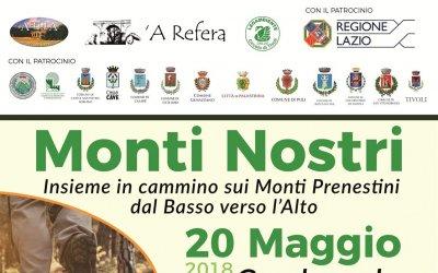 """Il Comune di Genazzano aderisce a """"Monti Nostri - Insieme in Cammino sui Monti Prenestini dal..."""