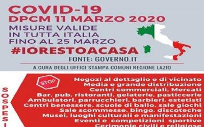 Nuovo DPCM 11 Marzo 2020 - COVID-19