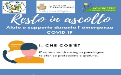 Attivato Servizio di Sostegno Psicologico Gratuito Emergenza Covid-19